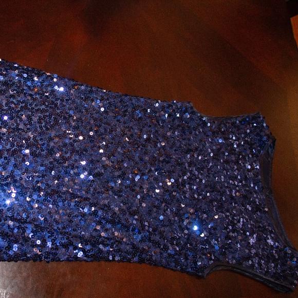 Forever 21 Dresses & Skirts - Blue Sequence Dress